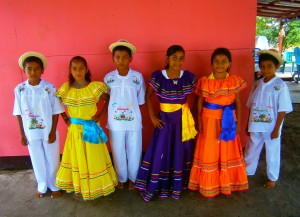 Traditional Nicaraguan Dance Costumes for the Local Schoolchildren