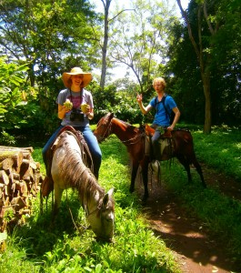 Horseback riding through plantations in Nicaragua