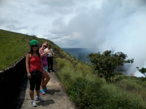 A tour from Jicaro island Ecolodge hiking up a volcano in Nicaragua.