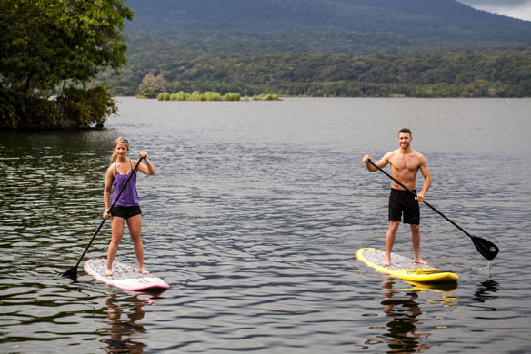 Take the complimentary paddleboards out and explore both Jicaro and Nispero!